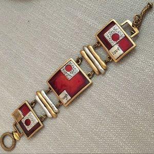 Chico's Joy Laugh Love toggle bracelet